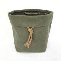 Canvas vase - Army green